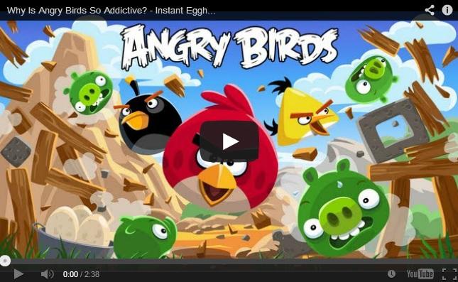אנגרי בירדס - צילום מסך מהסרטון